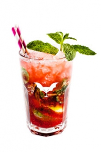 Raspberry beer mojito