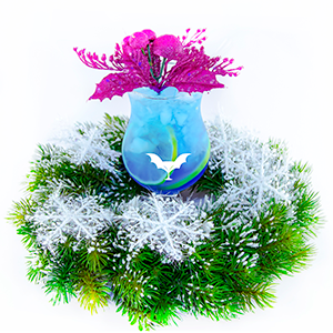 Голубая морозная лагуна