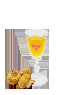 Белый гриб на белом вине