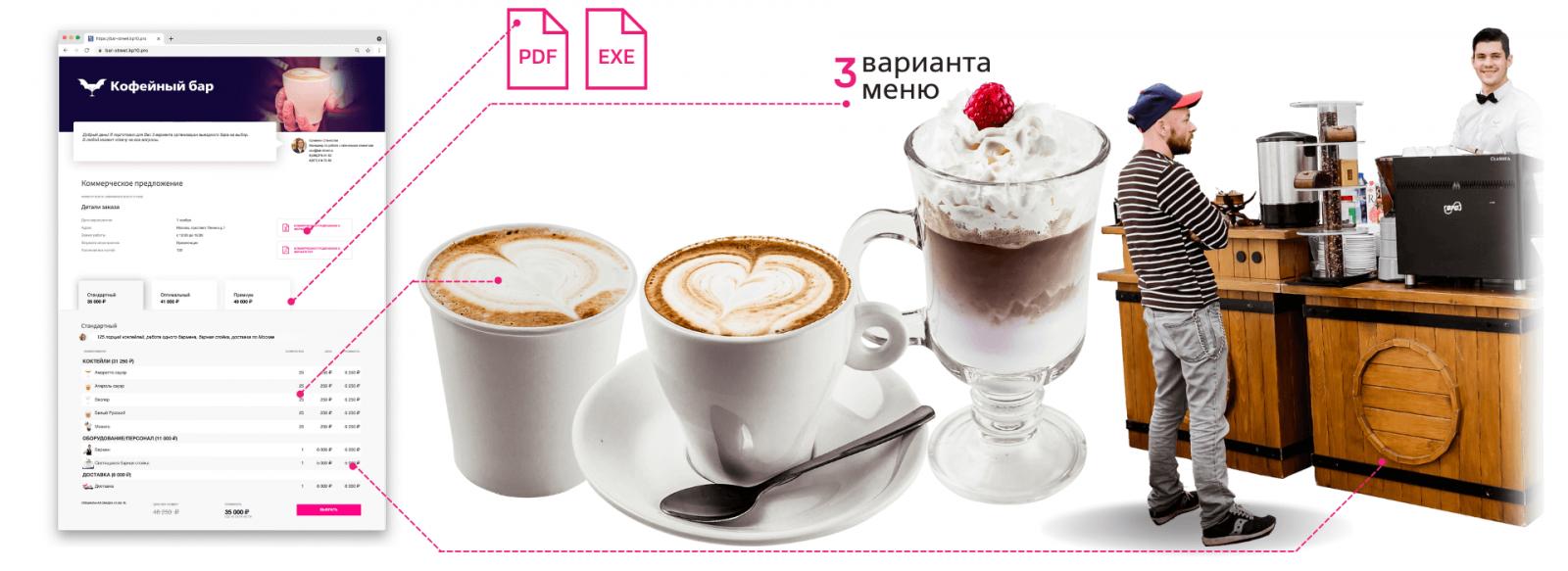 Коммерческое предложение кофейный бар