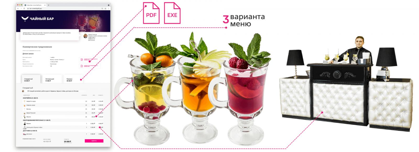 Коммерческое предложение чайный бар