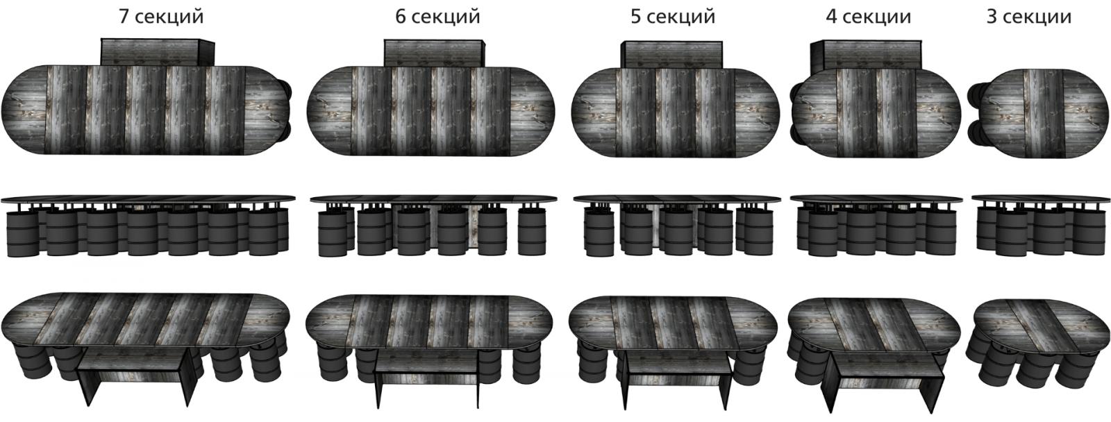 Расположение барных стоек с железной дорогой